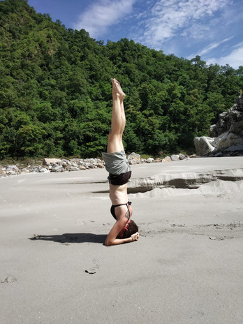 Yoga at the River Beach