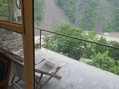 The Balcony overlooking the Ganges