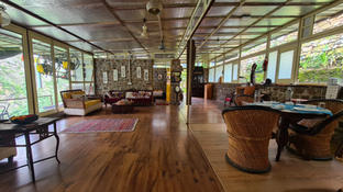 Living Room overlooking the Ganges