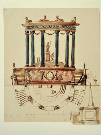 design for temple of flora - frick colle