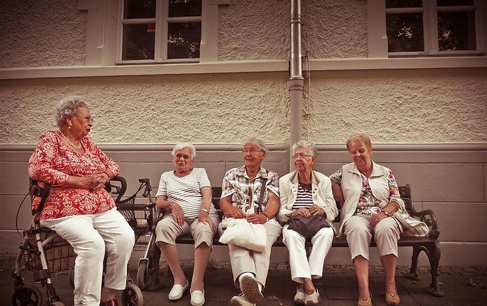 Older Women on Bench