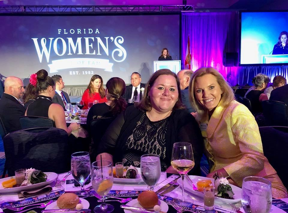 Savannah & Rep. Fitzenhage at the FL Women's Hall of Fame Induction Ceremony