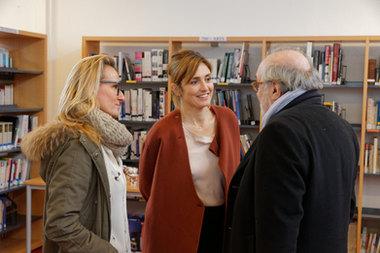 Julie Gayet au Lycée Albert Camus