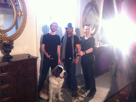 "With Dog 'Star' and Crew on Set of 'The Loyalties', ""Til the Death of Rock 'n' Roll"" Music Video."