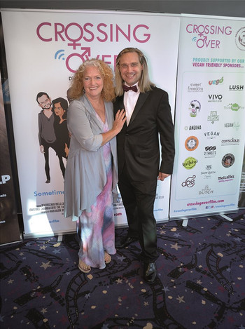 With Louise Jameson ('Doctor Who', 'Eastenders') At The 'Crossing Over' Premiere.
