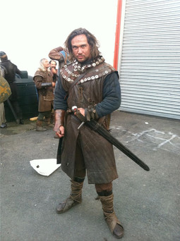 On Set of 'Snow White and 'The Huntsman'.