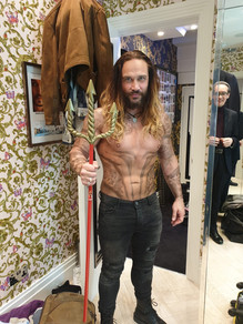 On Set of 'The Fetish Man' - As 'Aquaman'.