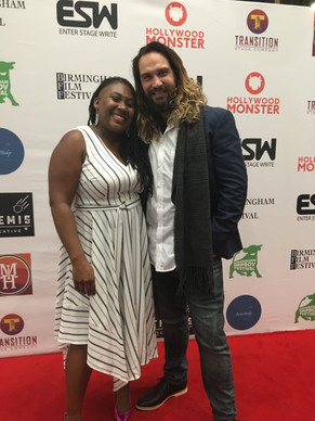 With 'Enter Stage Write' 2018 Winner Tonia Daley Campbell.