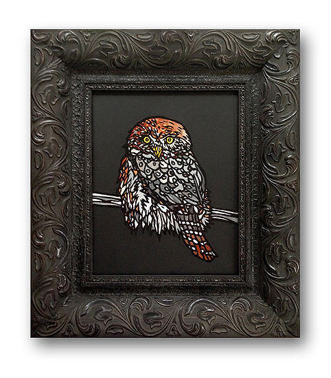 """""""Lil' Stealth the Owl"""" (Print on Wood)"""