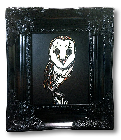 """Lil Hooter"" (Print on Wood)"