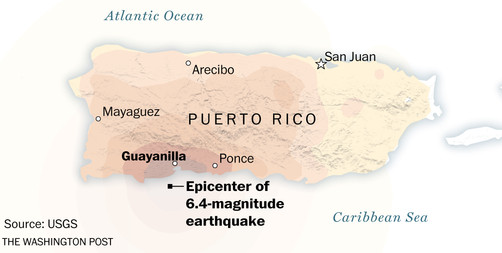 Guayanilla was the epicenter of multiple earthquakes in January 2020
