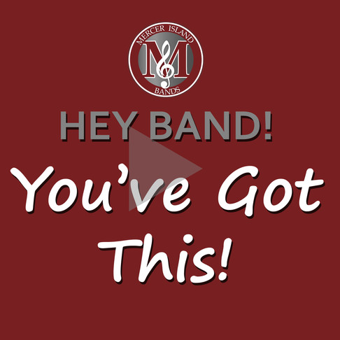 """Shout out from Alumni to Band ... """"You've  Got This!"""""""