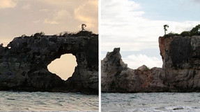 Natural wonder Punta Ventana collapses during the earthquake