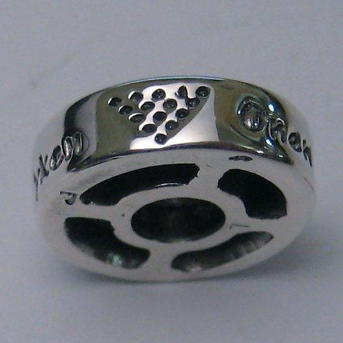 Cornish Kernow Charm Bead - Silver