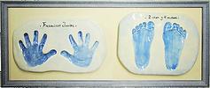 Huellas de bebe dobles