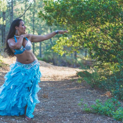 Andreia Gravata, Dança Oriental, Retrato Fotográfico na Arrábida, Portugal