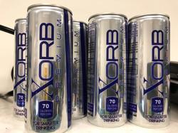 Design of XORB logo and bottle.