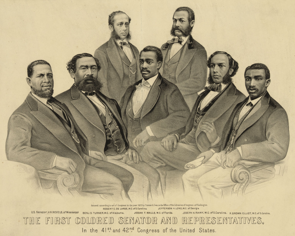 First Colored Senator and Representatives 41st and 42nd Congress of United States