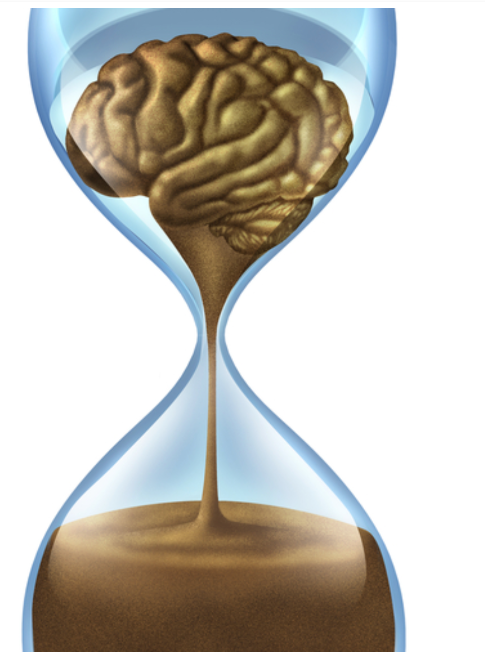 Time is Brain Hourglass
