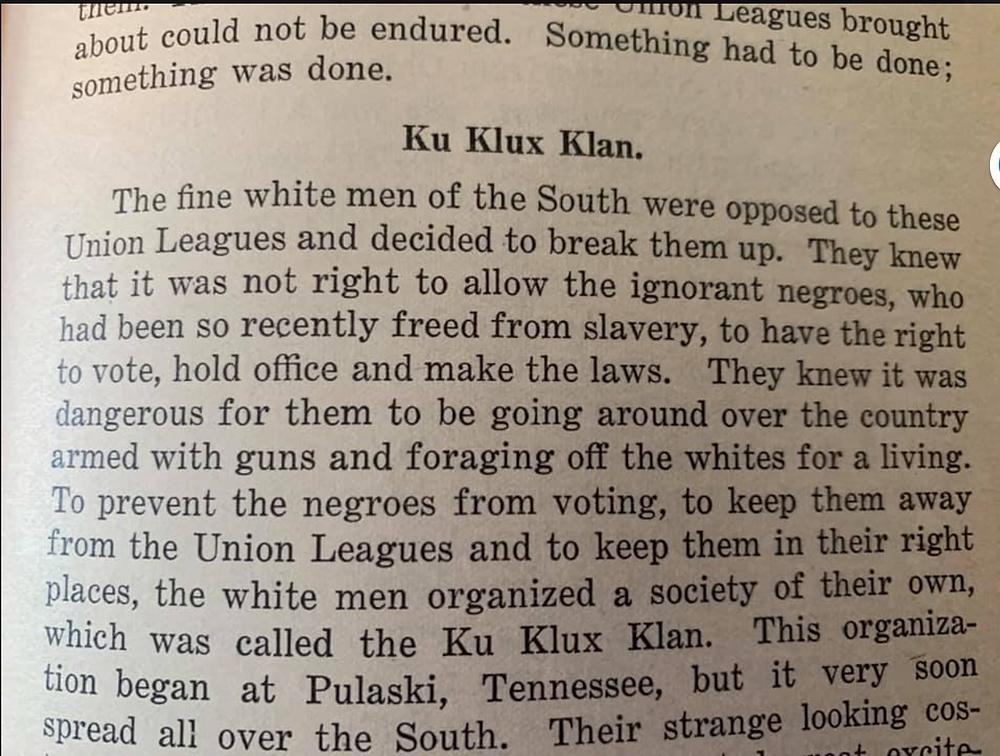 TN Textbook entry on KKK