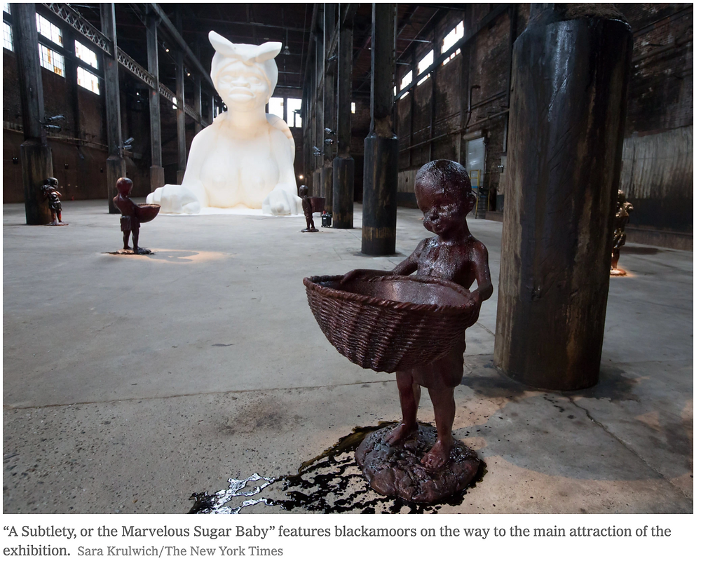 A Subtlety by Kara Walker, blackamoors