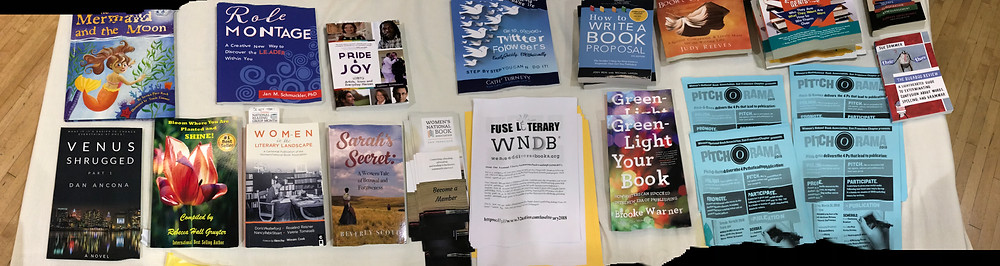 Selection of S.F. Chapter of  Women's National Book Association Author's works Raffle Table