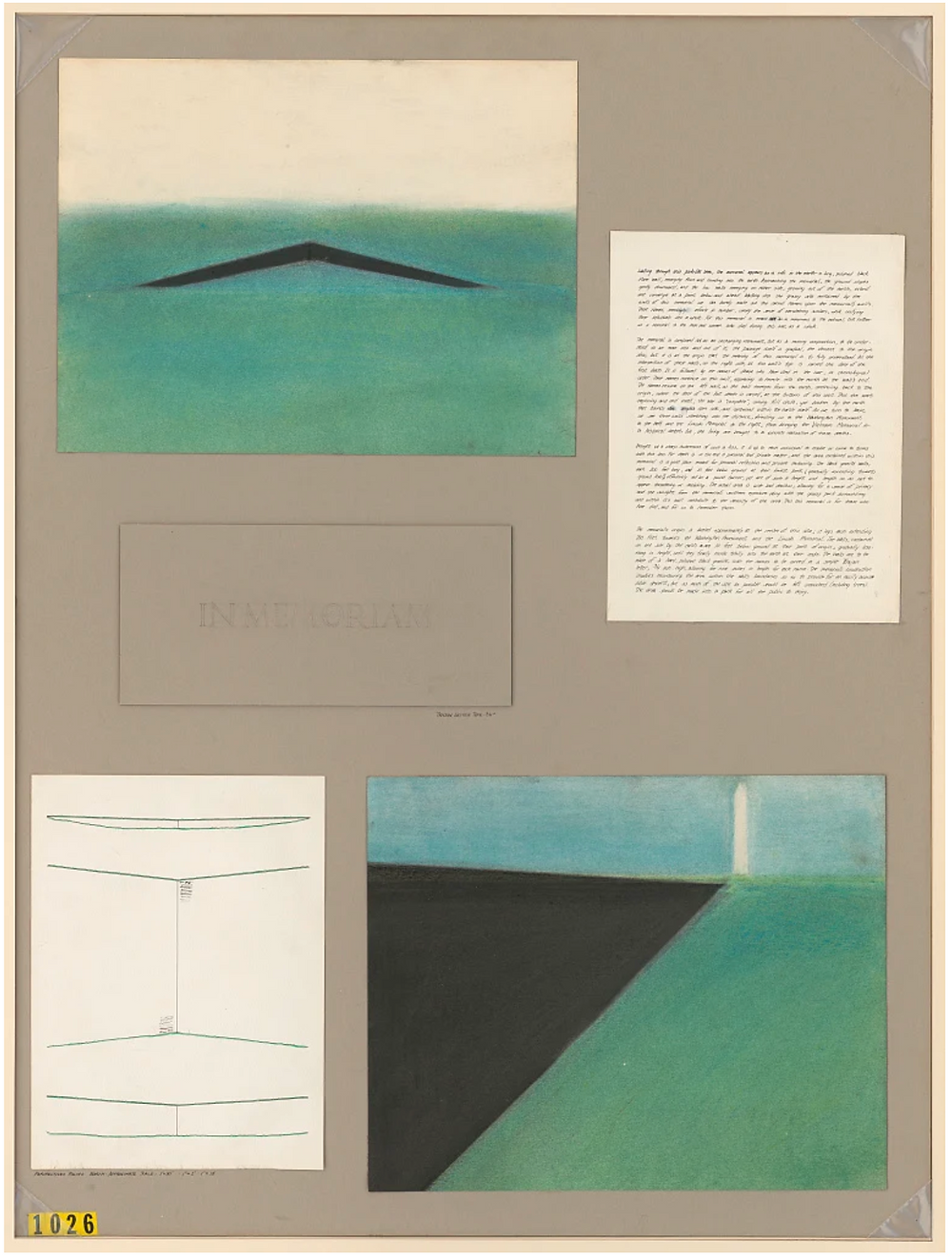 Submission, Maya Lin, proposed Vietnam Memorial
