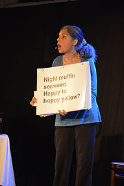 """""""Word salad."""" Production image My Stroke of Luck Diane Barnes"""