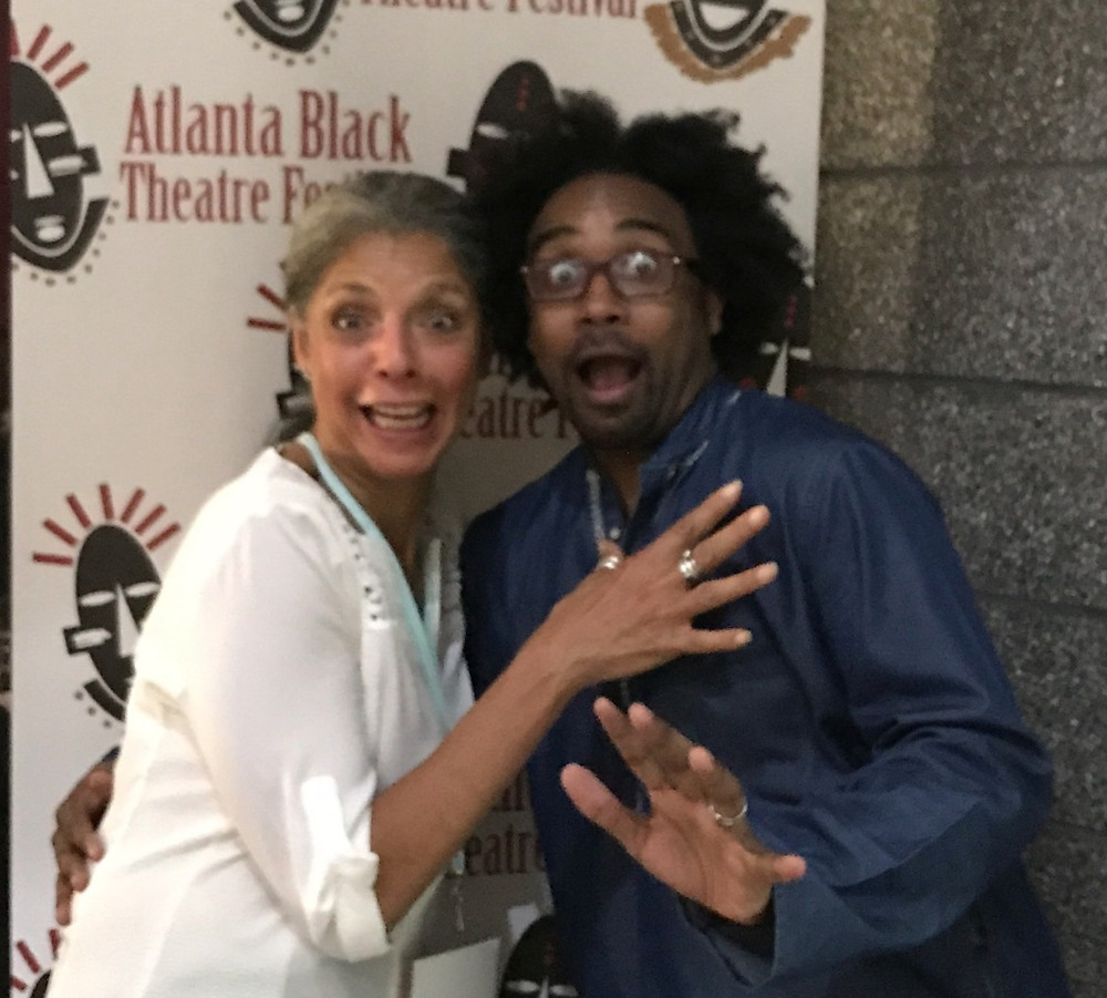 At Atlanta Black Theater Festival, Diane with handiwe Thomas de Shazor