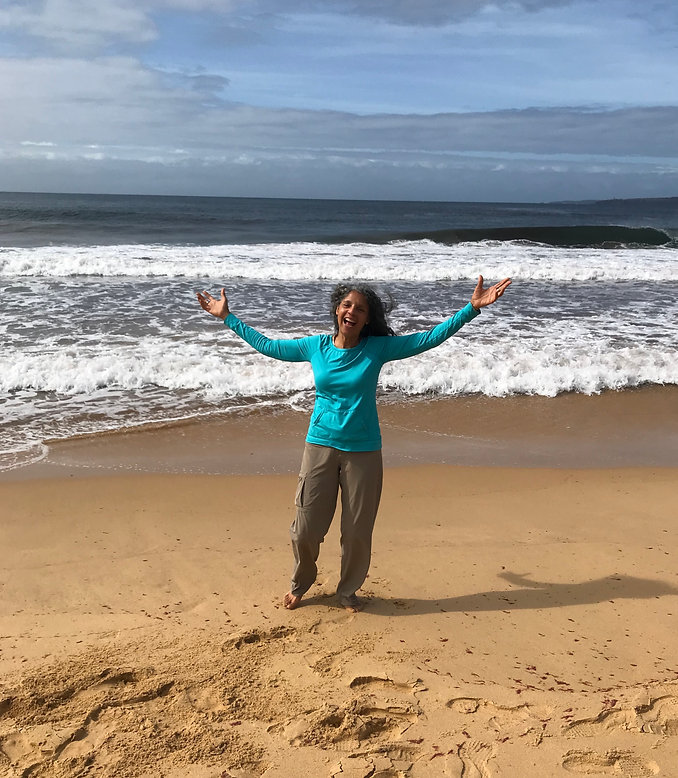 Diane on Beach in New South Wales, Australia