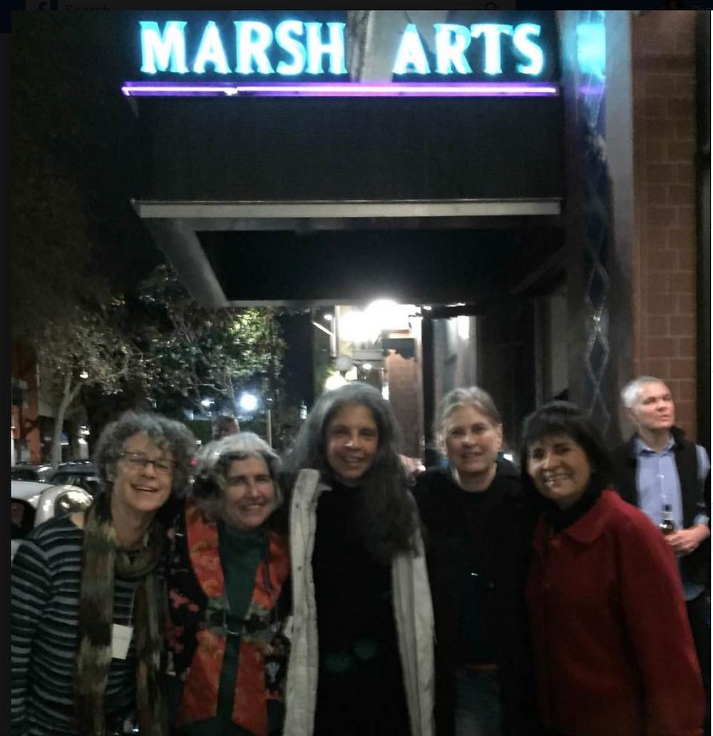 With Elaine Mcgree, Barbara Selfridge, Andy Mock and Irma Herrera at The Marsh Berkeley