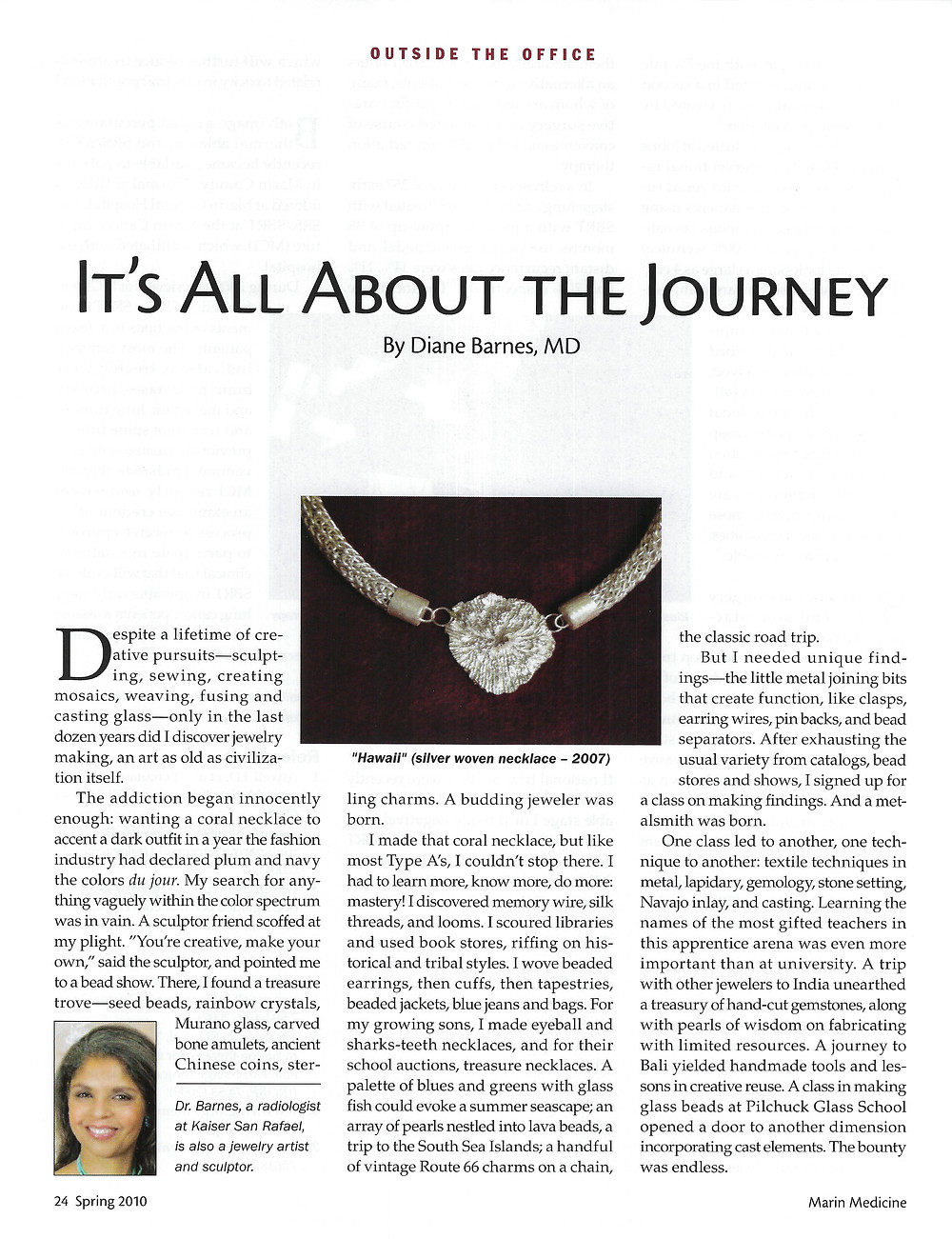 Article about Jewelry Making with Necklace Image