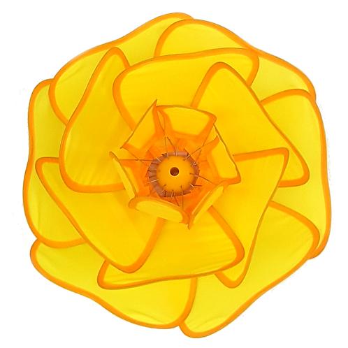 TRANSPAC IMPORT NYLON LOTUS FLOWER (YELLOW)