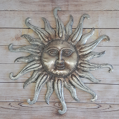 VERY COOL STUFF ANTIQUED ZINC SUN