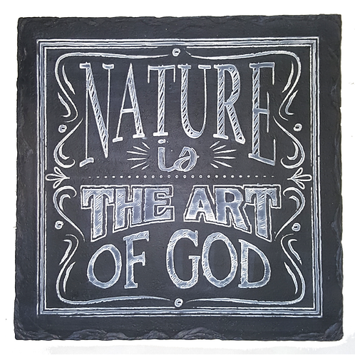 GIFTCRAFT PLAQUE/STEP STONE NATURE IS THE ART OF GOD