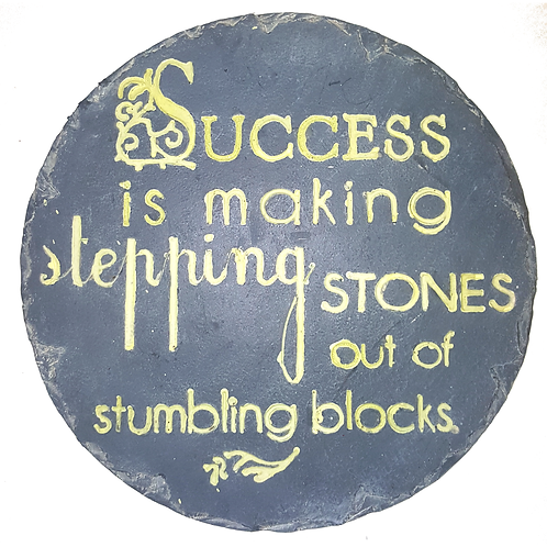 GIFTCRAFT PLAQUE/STEP STONE SUCCESS IS MAKING STEPPING STONES