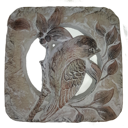 GIFTCRAFT PLAQUE/STEP STONE  SQUARE BIRD