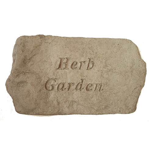 PLAQUE/STEP STONE HERB GARDEN