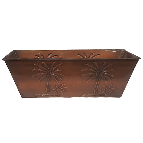 PLANTER WITH PALMS (RECTANGLE)