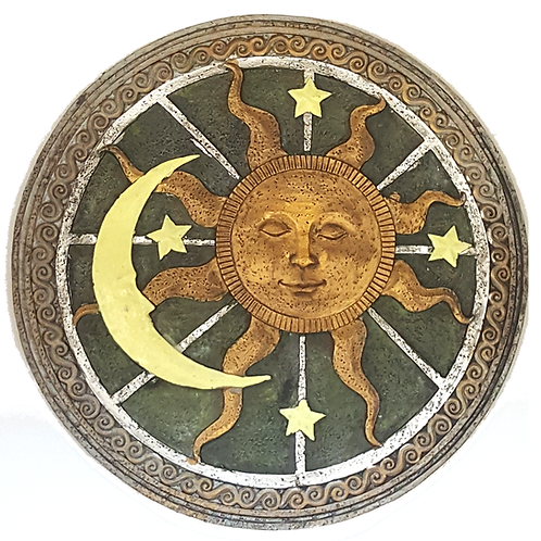 GIFTCRAFT PLAQUE/STEP STONE SUN FACE EYES CLOSED
