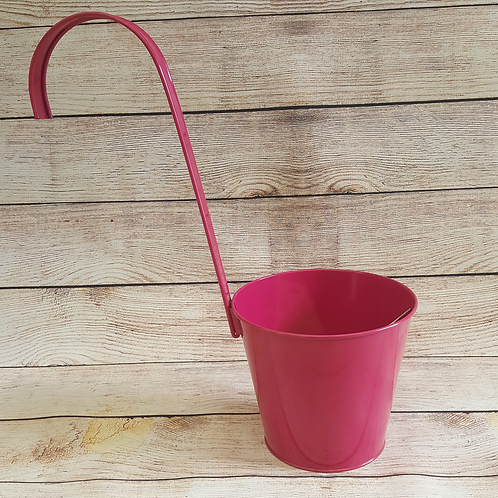 METAL POT HOLDER WITH LARGE HOOK (PINK)