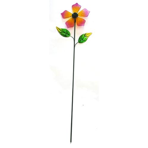 GLASS FLOWER STAKE (PINK)