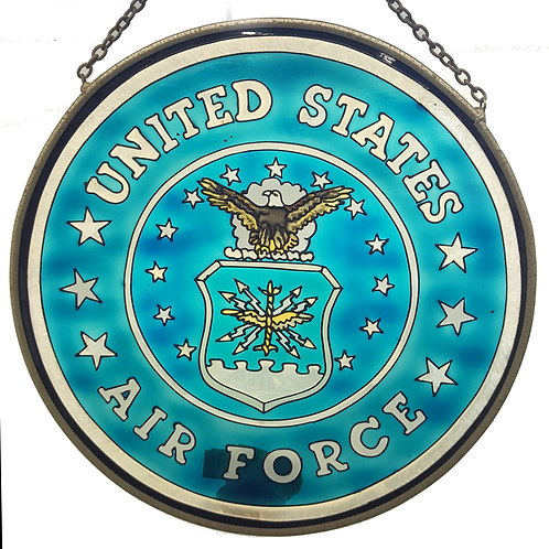 STAINED GLASS HANGER US AIR FORCE