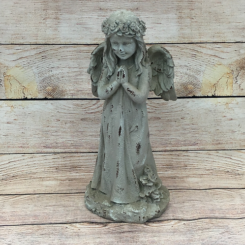 RUSTIC LOOKING STANDING ANGEL