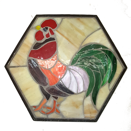 PLAQUE/STEP STONE MOSAIC ROOSTER