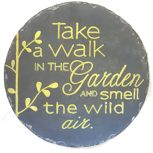 GIFTCRAFT PLAQUE/STEP STONE TALK A WALK IN THE GARDEN