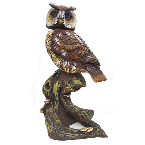 GIFTCRAFT STATUARY OWL ON STUMP