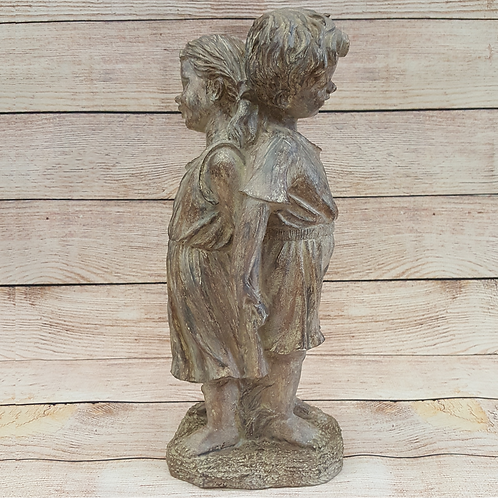 GIFTCRAFT  BOY AND GIRL STANDING BACK TO BACK