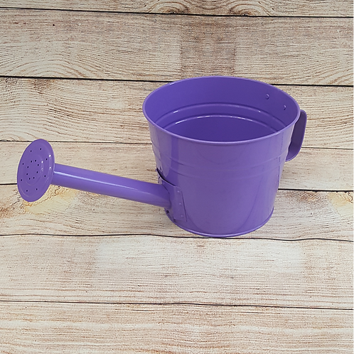 FAUX WATERING CAN PLANTER (PURPLE)