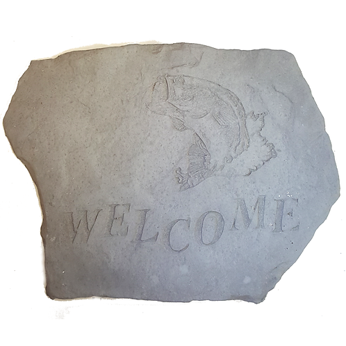 PLAQUE/STEP STONE WELCOME WITH BASS